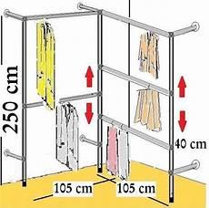 Kleiderstange Begehbarer Kleiderschrank - begehbarer kleiderschrank 250 cm hoch kleiderst 196 nder