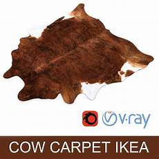 Kuhfell Teppich Ikea - ikea carpet cow hide koldby2 brown rug 3d model 12