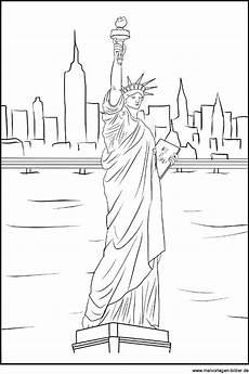 New York Malvorlagen Freiheitsstatue Als Ausmalbild Miss Liberty Und New York