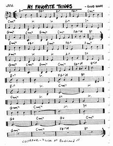 my favorite things lead sheet chords by rodgers