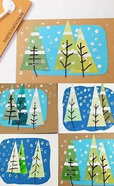 Bastelideen Weihnachten Grundschule - weihnachtskarten basteln mit tannenb 228 umen x