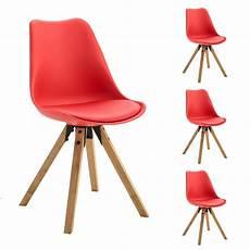 stuhl rot 4er set stuhl aus kunststoff in rot caro m 246 bel