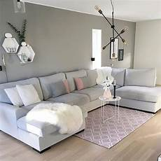 a grey and pink living room by mittpallas in 2019