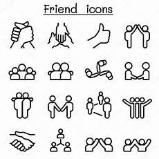 beziehung freundschaft symbole in d 252 nne linienstil - Symbole Für Freundschaft