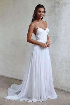 simple a line spaghetti straps open back summer wedding dress wedding dresses in 2019