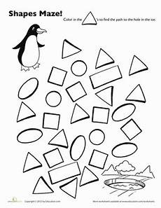 shape maze worksheet 1194 a maze ing shapes follow the triangles worksheet education