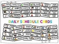 card template preschool mrs p s kindergarten daily schedule cards