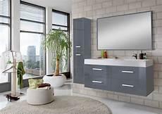 Badezimmermöbel Grau Hochglanz - badem 246 bel 3tlg 120 cm hochglanz grau hamburg g 252 nstig