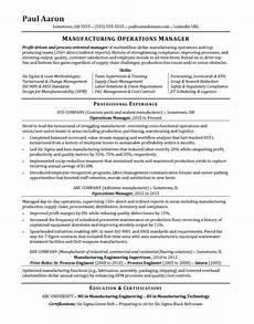 operations manager resume sle monster com