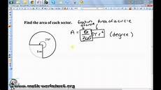 geometry worksheets area of sectors 843 geometry circles arc length and sector area
