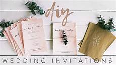 diy my wedding invitations with me youtube