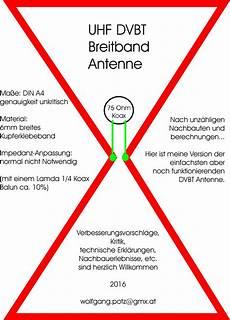 Einfache Dvbt Antenne Zum Nachbauen Mikrocontroller Net