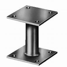 support de poteau galvanis 233 150x150x100x100x100 mm
