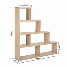 meuble casier en escalier libreria scaffale a scala simms legno mdf 4 ripiani rovere