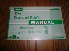 old car owners manuals 1994 gmc vandura 1500 engine control 1976 gmc vandura rally wagon stx owner s manual vintage glove box x 7605b ebay