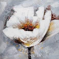 tableau moderne fleur blanche tableaux