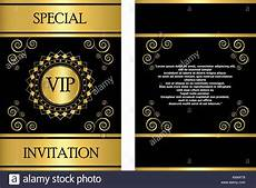 vip name card template a golden vip invitation card template that can be used for
