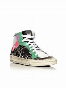 golden goose deluxe brand high tops sneakers in white lyst