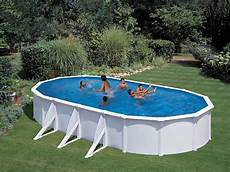 kit piscine acier ovale quot atlantis quot blanche 7 30 x 3 75 x