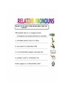 relative pronouns worksheet by sanmanit