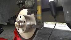 vw golf rear bearing and brake diy