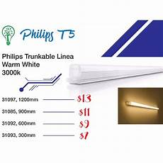 philips trunkable linea led batten wall light t5