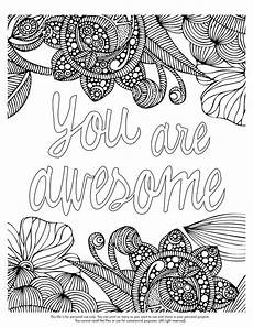 you are awesome coloring sheet happy coloring monday download your coloring page here http valentinadesign com images
