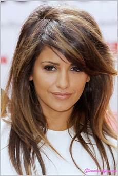 medium hairstyles with side fringe medium length haircuts with side swept bangs and layers