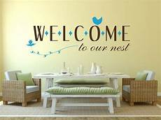 welcome to our nest home decor vinyl decal wall sticker words letters art bird ebay