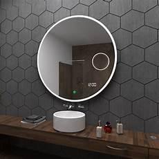 Badspiegel Rund Mit Beleuchtung - delhi rund badspiegel mit led beleuchtung mit