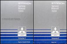 how to download repair manuals 1989 mitsubishi starion electronic valve timing 1988 mitsubishi starion repair shop manual original 2 vol set