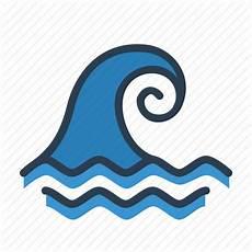 Big Wave Catastrophe Ocian Tsunami Icon