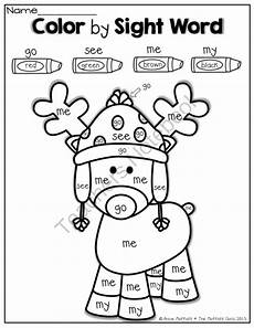 color by number words worksheets 16274 color by sight word reindeer pre k kindergarten colors sight words and ideas