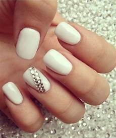 so cute white wedding nail design summery nails nail