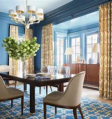 Blue Dining Room Curtains