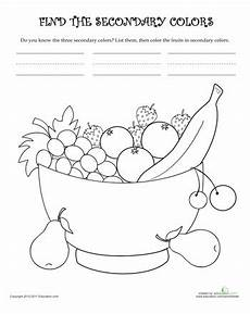 secondary colors worksheets 12813 learn the secondary colors secondary color primary secondary colors worksheets