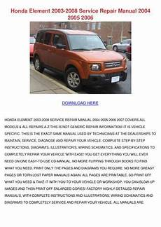 honda element 2003 2008 service repair manual by maxie chomka issuu