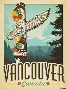 vancouver canada vintage travel poster vintage poster canvas