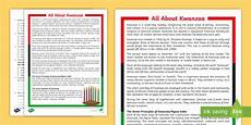 fifth grade all about kwanzaa reading comprehension activity kwanzaa