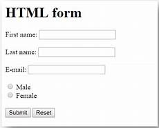 use of form in html working with html forms