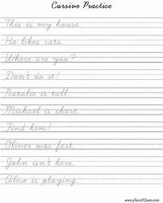 practice cursive writing short sentences worksheets for kids pinterest cursive and sentences