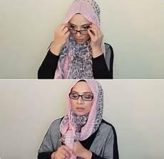 Tutorial Pashmina Wanita Berkacamata