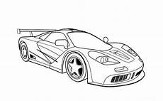racing car free colouring pages