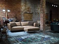 rustic living room design exposed brick wall rolf