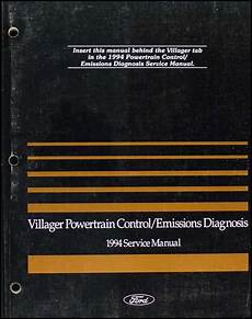 vehicle repair manual 1997 mercury villager engine control 1994 mercury villager engine emissions diagnosis manual