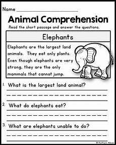 animal reading comprehension passages reading comprehension passages grade reading