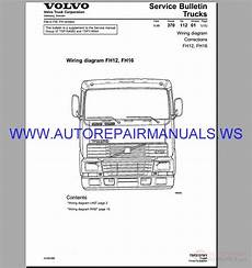 volvo fh12 16 trucks wiring diagram service manual auto repair manual heavy equipment