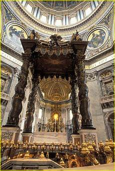 bernini baldacchino bernini s canopy baldacchino above st peters st