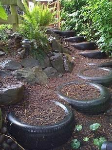 Gartenidee Gebrauchte Autoreifen Treppen Machen Ideen