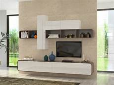 mobili da soggiorno moderno soggiorno bianco e noce camber mobile sospeso made in italy